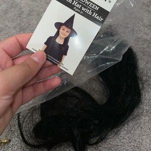 NWT long soft black hair loose strips clip on hair
